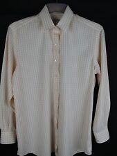 Ladies Charles Tyrwitt Shirt White with Light Orange/ Peach Check - Size 12
