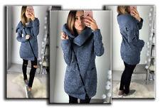 Plus Size Women Winter Jumper Jacket Coat Cardigans Ladies Long Zipper Outerwear