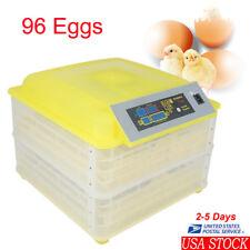 96Pcs Digital Egg Incubator Hatcher Automatic Egg Turning Temperature Control