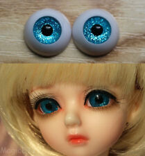 12mm Hand Made BJD Doll Eyes Ocean Blue Acrylic Half Ball
