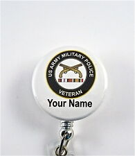 US ARMY MILITARY POLICE VETERAN ID BADGE RETRACTABLE,MILITARY.NURSE,DR.RNTECH,