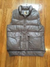 SKI DADDLE Mens VINTAGE Beige  Duck Down Puffer Vest Small
