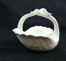 Vintage Fitz and Floyd Double Swan Candy Dish Figurine 1981