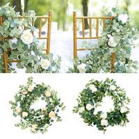 6FT Artificial Flower Silk Rose Leaf Garland Vine Ivy Wedding Landscaping Decor