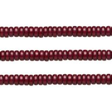 Wood Rondelle Beads Dark Brown 8x4mm 16 Inch Strand