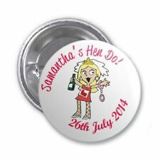 Single (Add On) Hens' Hen Do Personalised Badge (Name and Date)