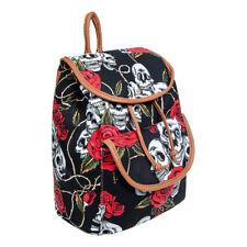 Blue Banana Duffle Skull & Rose Rucksack - Unisex Bags