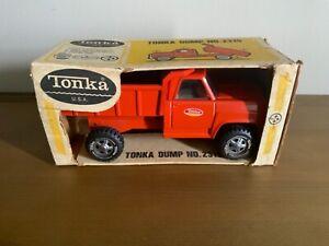 RARE ESTATE 1969 TONKA TOYS ORANGE DUMP TRUCK 2315 NEW OLD STOCK MINT IN BOX