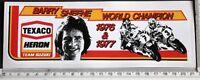 Barry Sheene Texaco Heron Team Suzuki World Champion 1976 & 1977 sticker    13