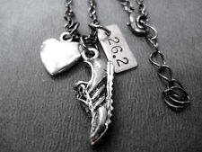LOVE + RUN 26.2~18inch Gunmetal Chain~RUNNING JEWELRY~Marathon Lovers Necklace