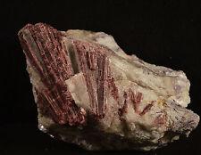 Rubellite sur Quartz Tourmaline Rouge du Bresil 464 grammes