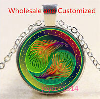4 colors    ND355 Lot of 4 Yin Yang Pendant Necklaces