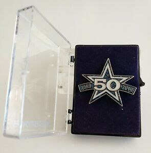 NFL DALLAS COWBOYS 50TH ANNIVERSARY GLITTERED BLUE STAR LE 250 NUMBERED PIN