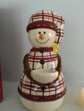 Christmas Winter Holidays Decor Make The Season Bright Snowman Candle holder