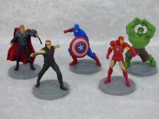 DISNEY STORE lot de FIGURINE MARVEL Captain America Hulk Iron man... 6,5cm