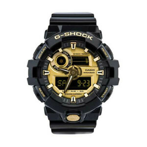 Casio G-Shock Mens Watch GA710GB-1A  GA-710GB-1A  Black/Gold 3D Face Free Post