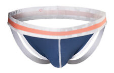 "CROOTA Mens Underwear Jockstrap, Bikini, Hip Up Jocks, Navy, L (Waist 32-34"")"