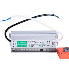 80 Watt Waterproof Led Power Supply Driver Transformer 110 To 12 Volt Dc Output