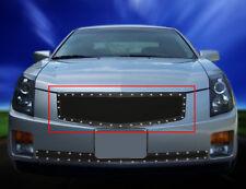 Fedar Fits 2003-2007 Cadillac CTS Full Black Insert Rivet Mesh Grille Insert