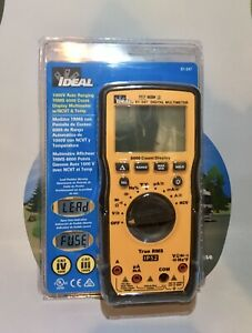 *NEW SEALED * Ideal 61-347- 1000V Auto Ranging TRMS + With NCVT & Temp $5 Ship!