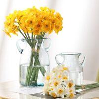 6pcs/Lot Artificial Simulation Narcissus Flower Home Wedding Decor Daffodil