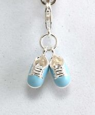 THOMAS SABO - Charm Anhänger Silber Babyschuhe blau Junge 0822