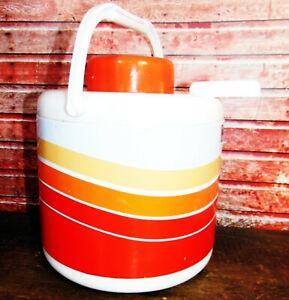 VINTAGE 1970's MOD Retro Camping Picnic Water Lemonade Portable Cooler Thermos