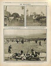 Poilus Soldats Belgique Poperinge Poperinghe Bataille de Flandre Ypres 1916 WWI