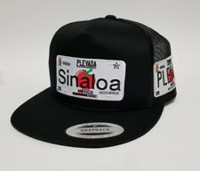 LAS PLACAS DE SINALOA   HAT MESH TRUCKER BLACK 2LOGOS   ADJUSTABLE  NEW