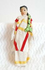 Vtg All Cloth Doll Ethnic International Handmade Cloth Tourist Collectable 11""