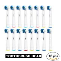 16 X Toothbrush Heads Replacement Brush Fit For Braun Oral B PRECISION CLEAN