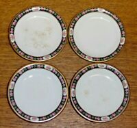 "4 John Maddock England Porcelain Butter Pats - MAD7 - 3 1/8"" - Stains"