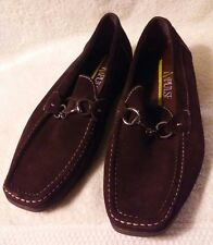 Impulse Mens Leather Loafers Shoes Brown Size 10 1/2 10.5 Slip on Dress Sport
