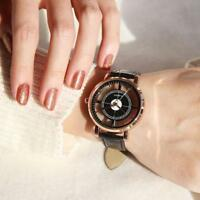 Women Ladies Dress Watches Hollow Bracelet Leather Quartz Analog Wrist Watch
