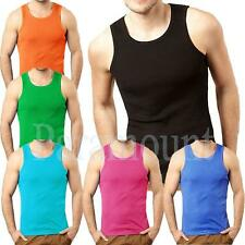 Men's No Pattern Sleeveless Fitted Crew Neck Casual Shirts & Tops