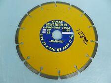"DRILLCO 8"" DIAMOND CIR SAW BLADE WET/DRY EARLY ENTRY GREEN CONCRETE MADE USA~NEW"