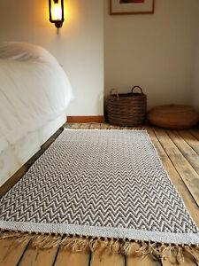 Premium Quality Mocha Chevrons Rugs Reversible Cotton Medium Very Large rugs