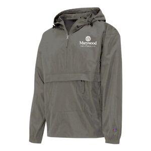 Champion NCAA Marywood University Men's Black Half Zip Windbreaker Jacket