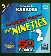 Chartbuster karaoke cdg les années quatre-vingt-dix (5038R) 3 disc box set 50 tracks new