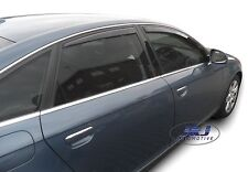DAU10217 AUDI A6 C6 4 door saloon  2004-2011 wind deflectors 4pc set TINTED HEKO