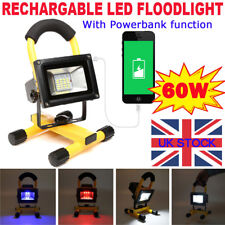 60W 30 LED Floodlight Portable Rechargeable Work Light Camping USB Charge IP65