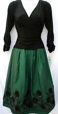 S.L.Fashions formal occasion elegant A line jersey taffeta embelished dress sz 8