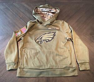 Nike Women's Philadelphia Eagles Salute To Service Hoodie Sweatshirt Size Large