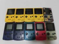 for parts Lot of 10 Set Nintendo GameBoy Color random Console System GBC Junk