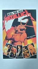 Metallica kill em All hell on earth tour vintage music postcard POST CARD carte