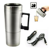 12V Water Heater Mug Car Electric Travel Stainless Steel Bottle Kettle Cup