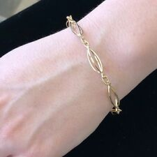 Stunning Classy Lovely Link Charm 18KY Gold Ladies Italian Charm bracelet