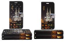 NEU Kölner Dom Muster BuchTasche Samsung Galaxy Flip Case Schutz Hülle Etui