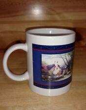 Thomas Kinkade Morning Glory Cottage coffee mug