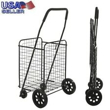 Helping Hand Large-Capacity Folding Shopping Cart with Wheels and Handle